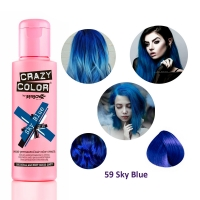 Краска для волос Crazy Color 59 Sky Blue (синий)